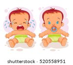vector illustration two baby in ... | Shutterstock .eps vector #520558951