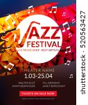 vector musical flyer jazz... | Shutterstock .eps vector #520563427