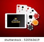 online casino design poster... | Shutterstock .eps vector #520563619