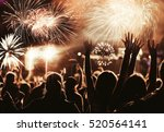 cheering crowd watching... | Shutterstock . vector #520564141