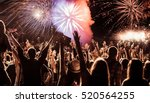 cheering crowd watching... | Shutterstock . vector #520564255