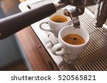 morning espresso in ceramic cups | Shutterstock . vector #520565821