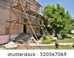 detail renovation of house with ... | Shutterstock . vector #520567069