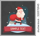 jolly santa claus. vector... | Shutterstock .eps vector #520570945