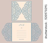 wedding invitation or greeting... | Shutterstock .eps vector #520573291