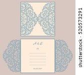 wedding invitation or greeting... | Shutterstock .eps vector #520573291