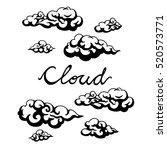 cloud vector icon | Shutterstock .eps vector #520573771