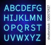 glowing neon lights vector... | Shutterstock .eps vector #520573927