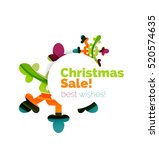 christmas and new year sale... | Shutterstock . vector #520574635