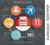 logistic cargo info graphic...   Shutterstock .eps vector #520576909