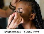 make up of american black model.... | Shutterstock . vector #520577995