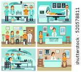 people  patients in hospital ... | Shutterstock .eps vector #520578811