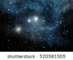 stars of a planet and galaxy in ... | Shutterstock . vector #520581505