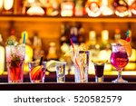 set of cocktails at the bar   Shutterstock . vector #520582579