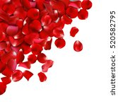 background of red rose petals.... | Shutterstock .eps vector #520582795