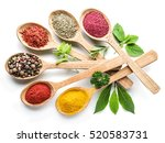 assortment of colorful spices... | Shutterstock . vector #520583731