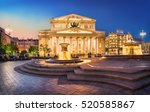 the bolshoi theatre in the... | Shutterstock . vector #520585867