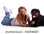 Stock photo funny black don on the white 52058587
