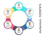 business infographics. circular ... | Shutterstock .eps vector #520587874