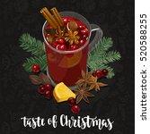taste of christmas. decorative...   Shutterstock .eps vector #520588255