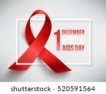 realistic red ribbon  world... | Shutterstock .eps vector #520591564