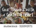thanksgiving blessing... | Shutterstock . vector #520592971