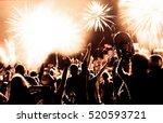 cheering crowd watching... | Shutterstock . vector #520593721