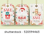 merry christmas sale tags in... | Shutterstock .eps vector #520594465