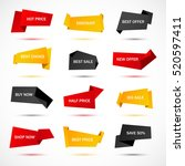 vector stickers  price tag ... | Shutterstock .eps vector #520597411