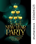 new year party poster concept... | Shutterstock .eps vector #520604125