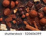 variety of sweet homemade...   Shutterstock . vector #520606399