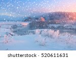 bright christmas morning with... | Shutterstock . vector #520611631