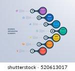 infographics timeline template... | Shutterstock .eps vector #520613017