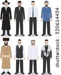 set of different standing... | Shutterstock .eps vector #520614454