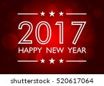 happy new year 2017 background... | Shutterstock .eps vector #520617064