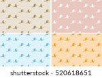 light color patterns with birds ... | Shutterstock .eps vector #520618651