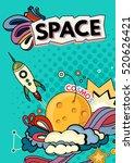 cartoon vector illustration of... | Shutterstock .eps vector #520626421
