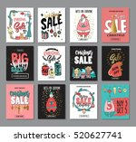 set of creative sale holiday... | Shutterstock .eps vector #520627741