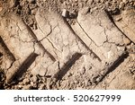 Footprint In The Mud Of A...