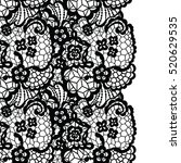 seamless lace border. vector... | Shutterstock .eps vector #520629535