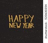 gold merry christmas hand drawn ... | Shutterstock .eps vector #520630354