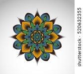 vector abstract flower mandala. ... | Shutterstock .eps vector #520632355
