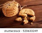 homemade chocolate cookies on...   Shutterstock . vector #520633249