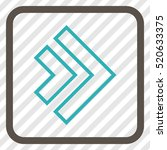 direction right grey and cyan... | Shutterstock .eps vector #520633375