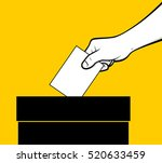 voting hand | Shutterstock .eps vector #520633459