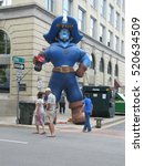 "Small photo of n-us-tn Johnson City - 2013-06-08: Blue Plum Festival - E T S U Mascot ""Bucky""."