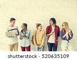 diversity students friends... | Shutterstock . vector #520635109