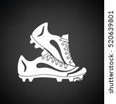baseball boot icon. black... | Shutterstock .eps vector #520639801