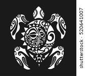 Turtle Tattoo In Maori Style On ...