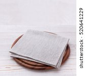 napkin on table in perspective. ... | Shutterstock . vector #520641229